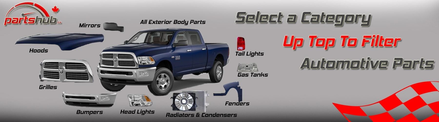 filtering auto body parts canada